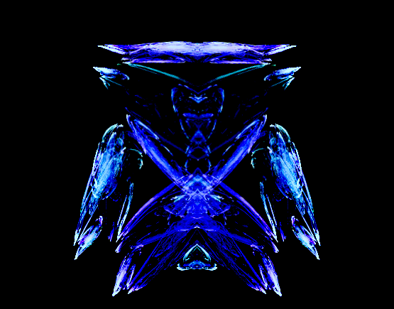 robot drawn by Apophysis Flames