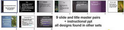 screenshot image of all the slides in the presentation file